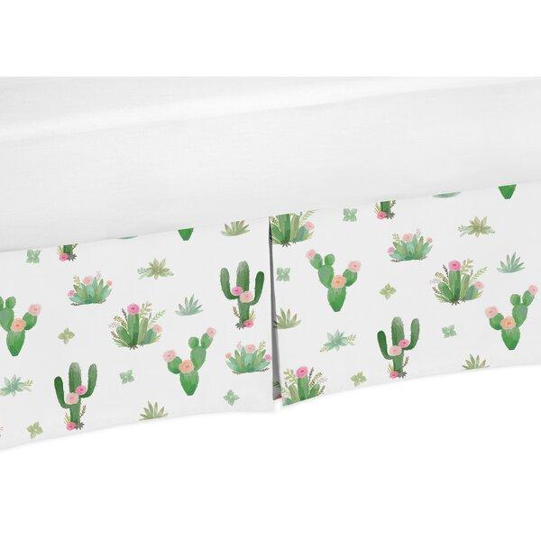 Cactus Floral Crib Bed Skirt by Sweet Jojo Designs