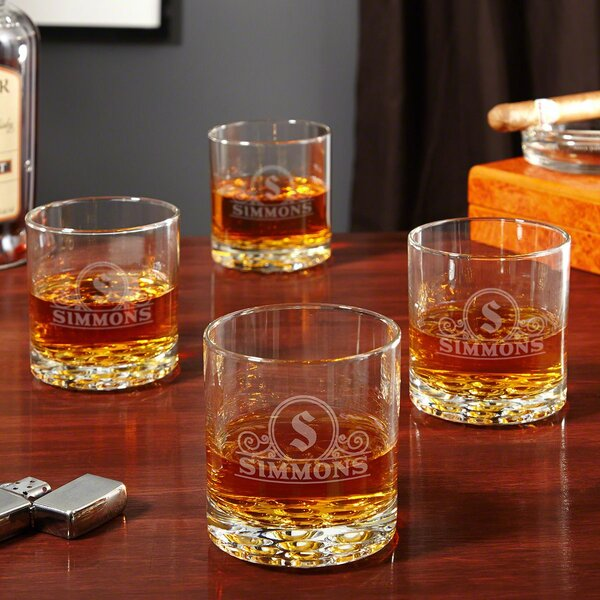 Ryland 10 oz. Glass Whiskey Glass (Set of 4) by Alcott Hill
