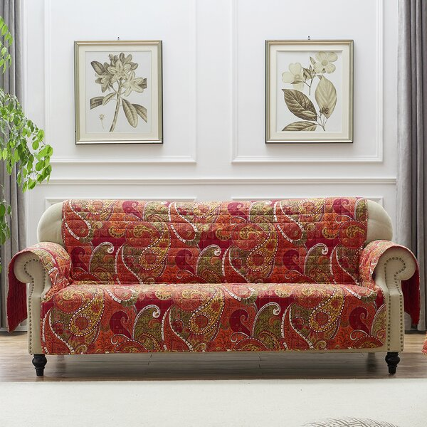 Sayler Box Cushion Sofa Slipcover By Charlton Home