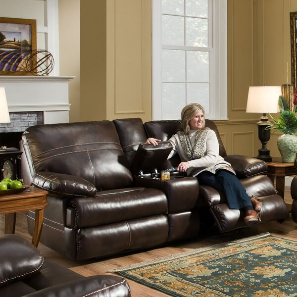 #2 Obryan Double Motion Console Reclining Loveseat By Darby Home Co No Copoun