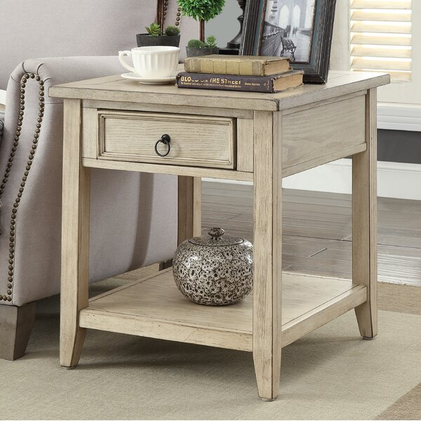 Stas 1 Drawer End Table with Storage by Darby Home Co