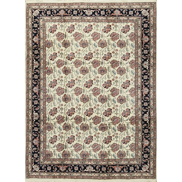 One-of-a-Kind Handwoven Wool Ivory/Peach Indoor Area Rug by Bokara Rug Co., Inc.