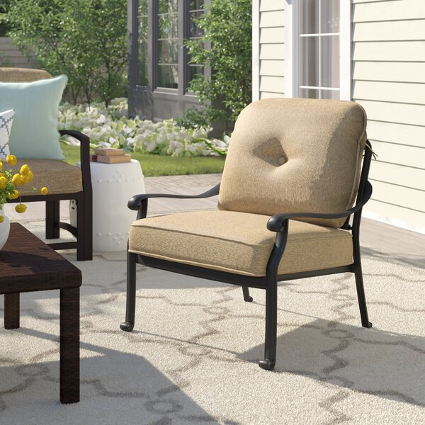Lebanon Patio Chair with Cushions (Set of 4) by Three Posts Three Posts