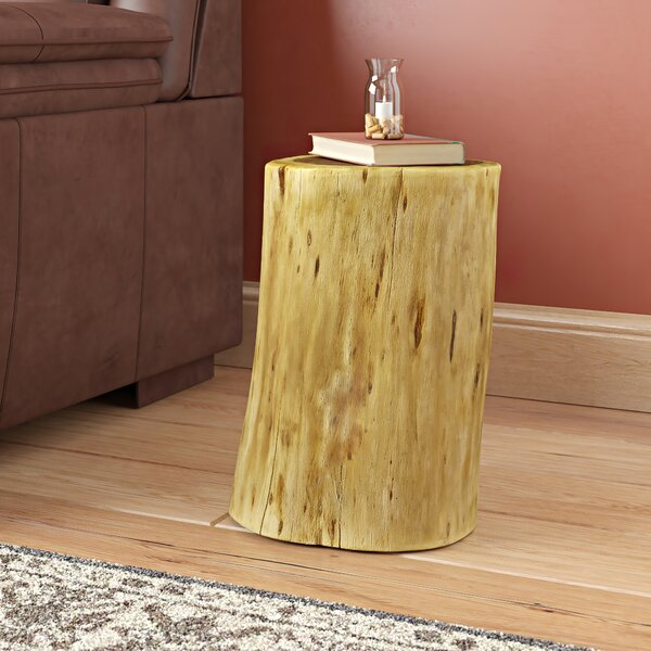 Wingfield Solid Wood Tree Stump End Table By Union Rustic