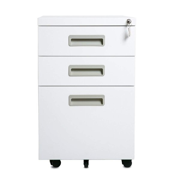 Chula 3-Drawer Mobile Vertical Filing Cabinet by Symple Stuff