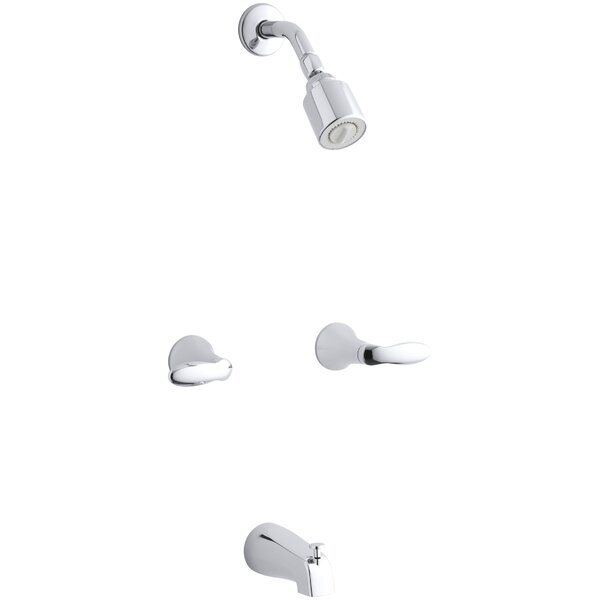 Coralais Bath/Shower Trim Set with Lever Handles, Valve Not Included by Kohler