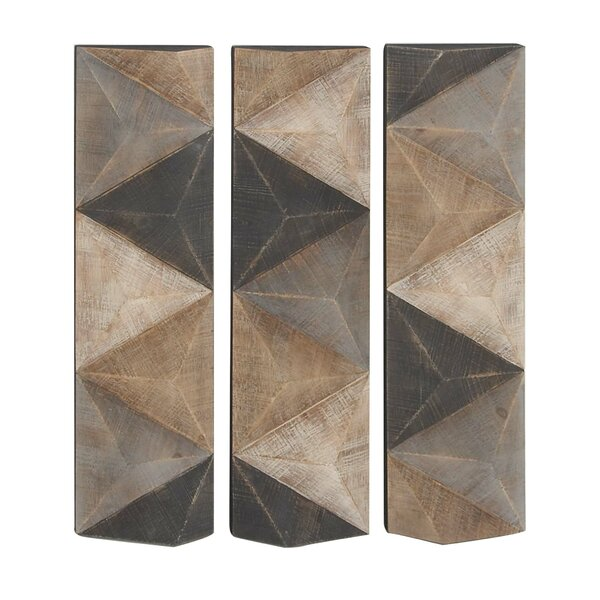 Geometric Inspired Wall Decor (Set of 3) by Corrig