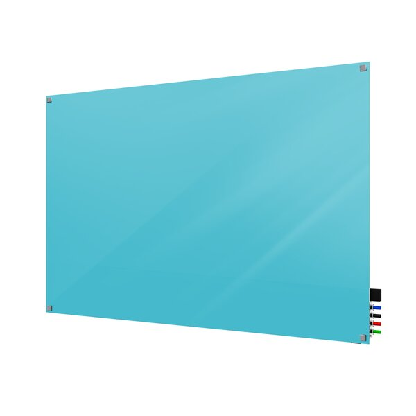 Ghent Harmony Magnetic Glass Whiteboard with Square Corners by Ghent