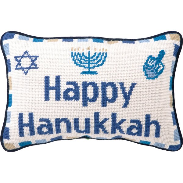 Happy Hanukkah Pillow by Peking Handicraft