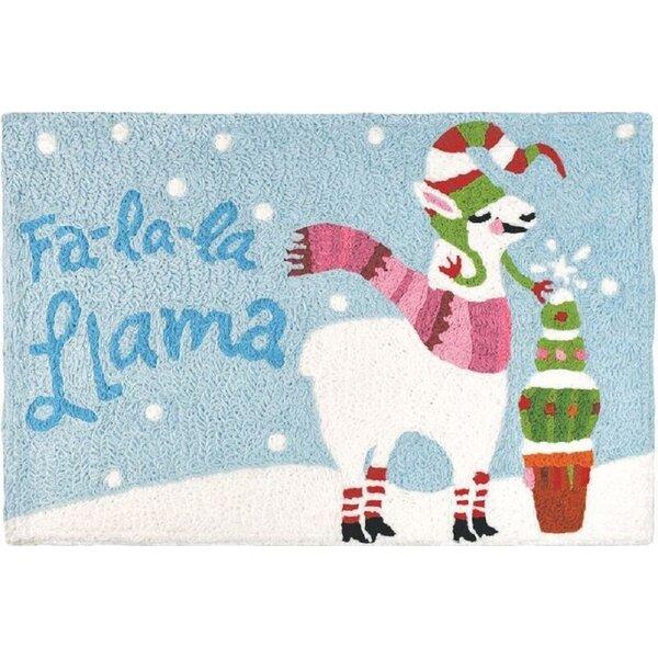 Esquivel Fa La La Llama Hand-Tufted Blue Indoor/Outdoor Area Rug by The Holiday Aisle