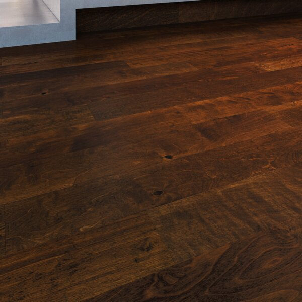 Embarcadero 5 Engineered Birch Hardwood Flooring in Brown by GoHaus
