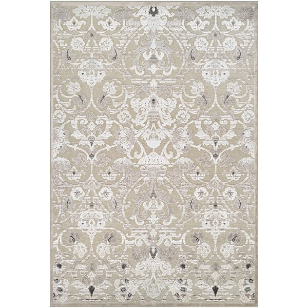 McNamara Antique Cream/Mushroom Area Rug by House of Hampton