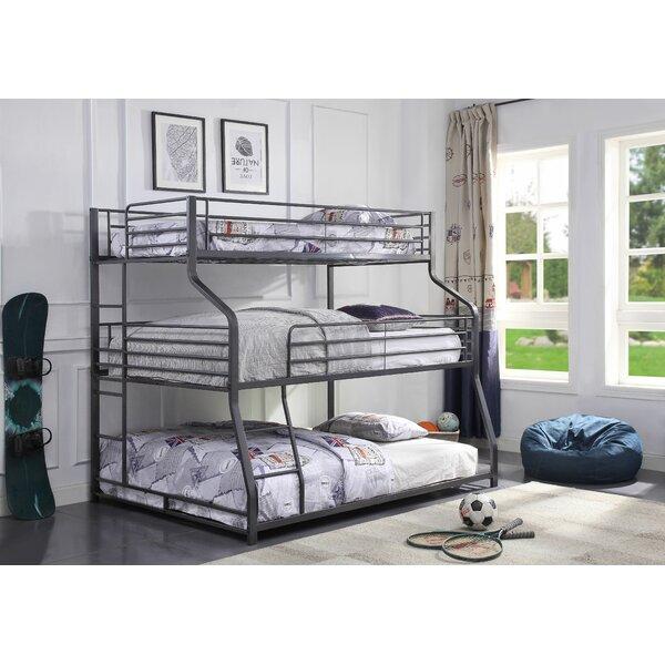 Bjarne Twin Over Full Triple Bunk Bed [Harriet Bee]