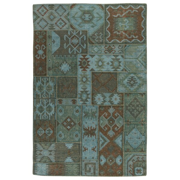 Lavaggio Lagoon Patchwork Rug by Kosas Home