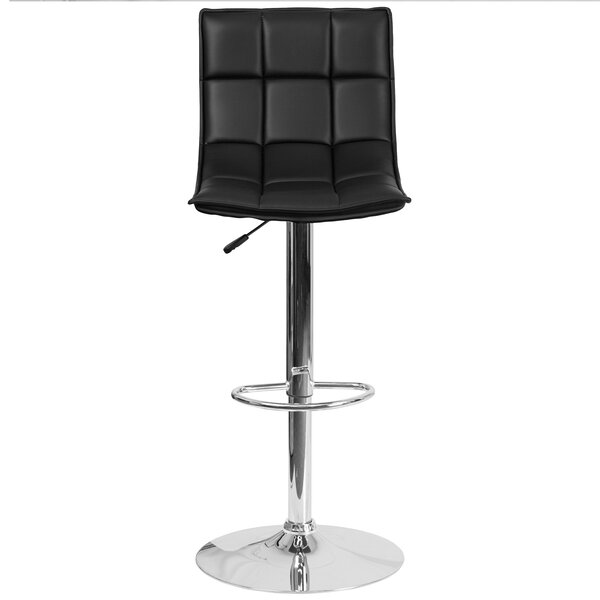 Navua Adjustable Height Swivel Bar Stool by Orren Ellis