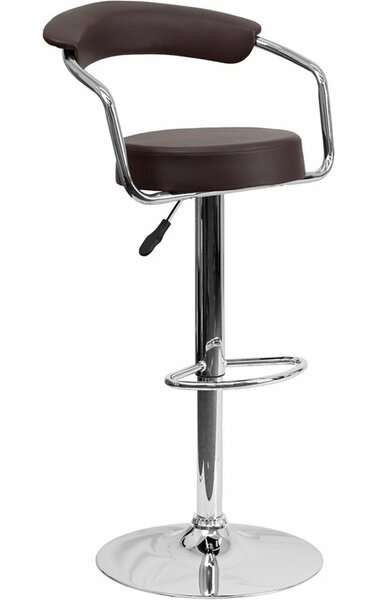 Eberhard Low Back Adjustable Height Swivel Bar Stool by Ebern Designs