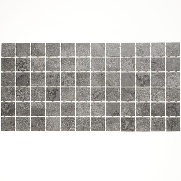 Slate Attaché 12 x 24 Porcelain Mosaic Tile in Meta Dark Gray by Daltile
