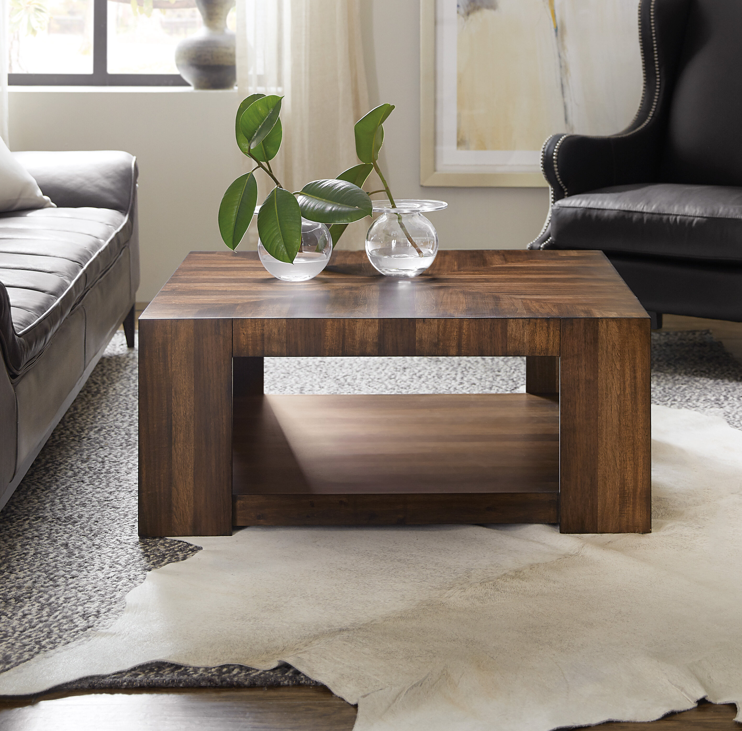 Occasional Rectangle Coffee Table With Tray Top