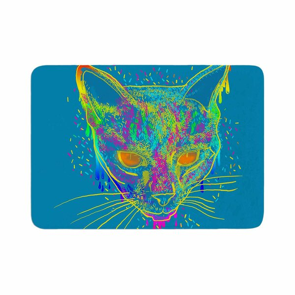 Candy Cat by Frederic Levy-Hadida Bath Mat by East Urban Home