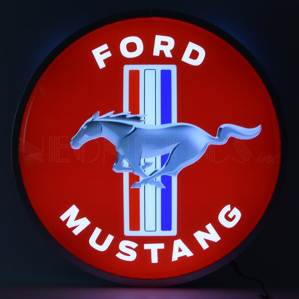 Ford Mustang Backlit LED Lighted Sign Themed by Neonetics