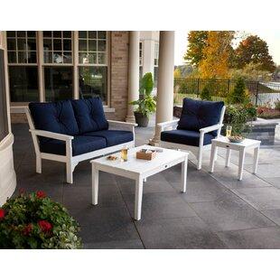 Vineyard 4 Piece Sunbrella Sofa Set with Cushions by POLYWOOD?