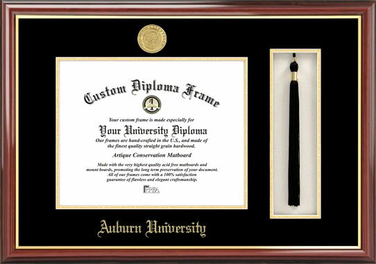 NCAA Auburn University Tassel Box and Diploma Picture Frame by Campus Images
