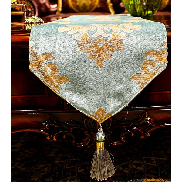 Delancy European Jacquard Table Runner by Astoria Grand