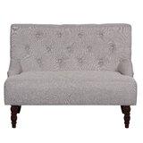 Tufted Linen Upholstered Loveseat byHouse of Hampton