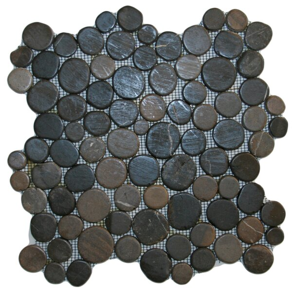 Banyak Random Sized Natural Stone Mosaic Tile in Gray by CNK Tile