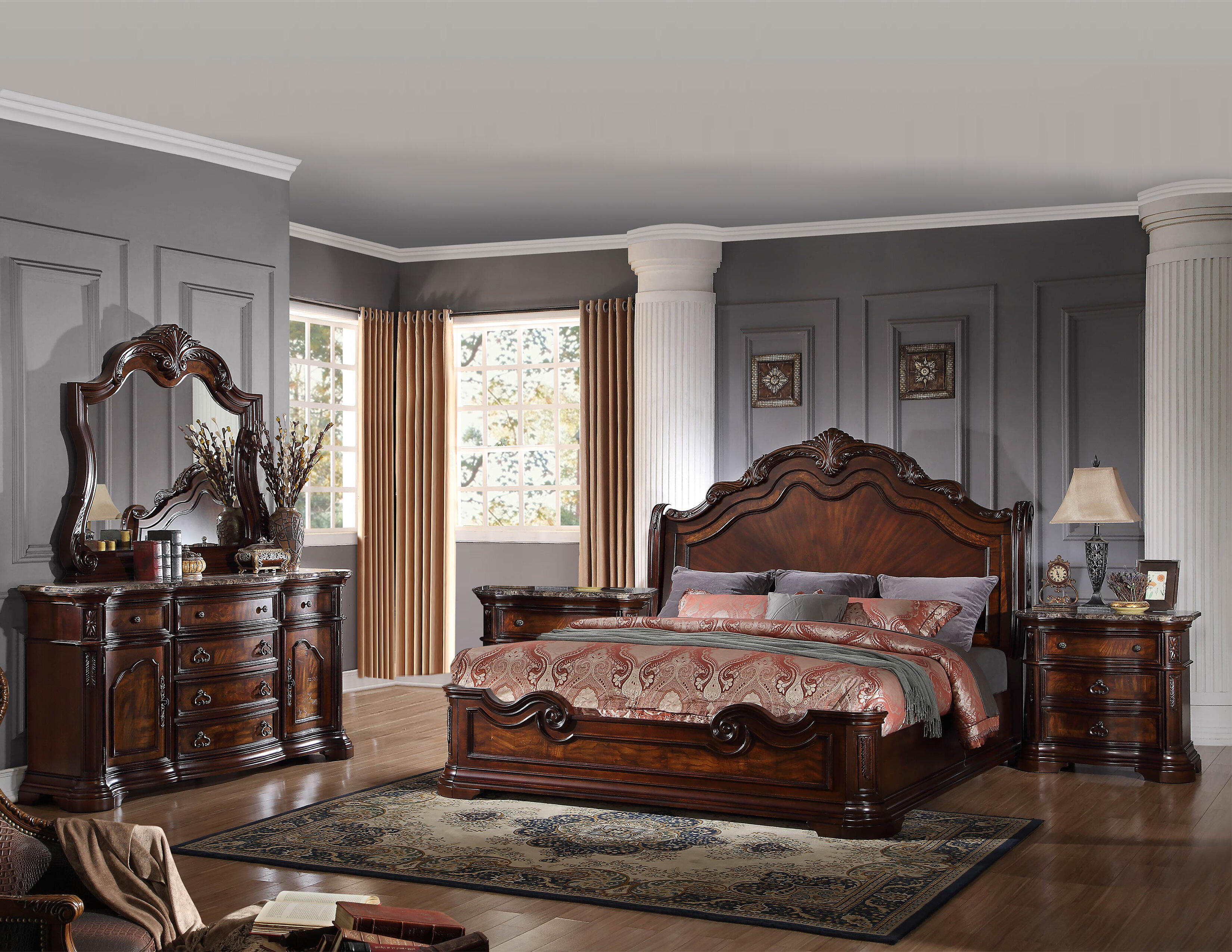 Deco Separation De Piece fletcher standard 5 piece bedroom set