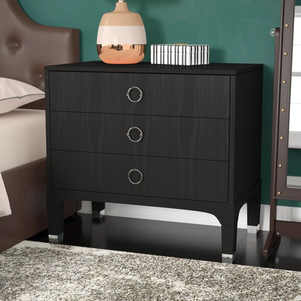 Gerald 3 Drawer Nightstand By Langley Street™ by Langley Street™ 2020 Sale