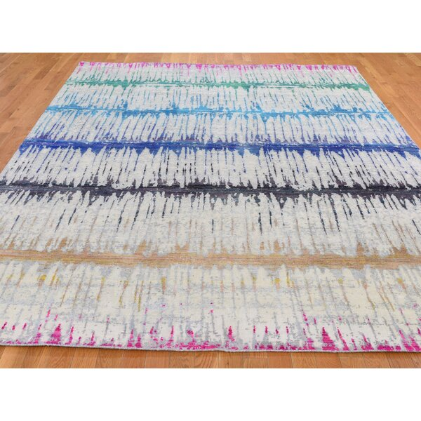 One-of-a-Kind Bramhall Hand-Knotted Gray/Blue/Red/Green 8' x 10'3 Area Rug
