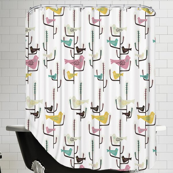 Birds Shower Curtain by East Urban Home