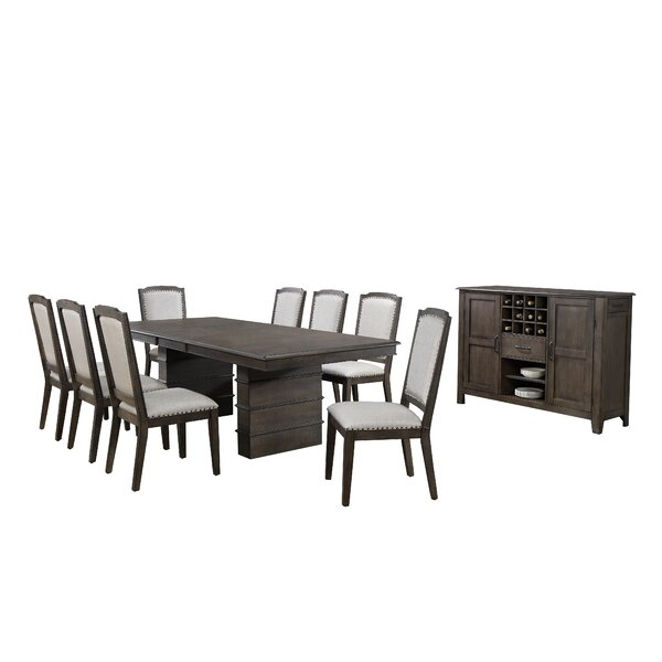 Seaver 10 Piece Extendable Dining Set by Gracie Oaks