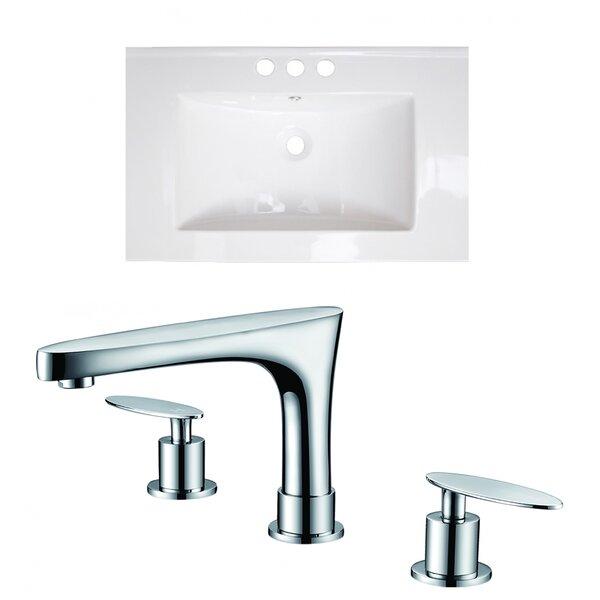 Vee Ceramic 21 Single Bathroom Vanity Top by Royal Purple Bath Kitchen
