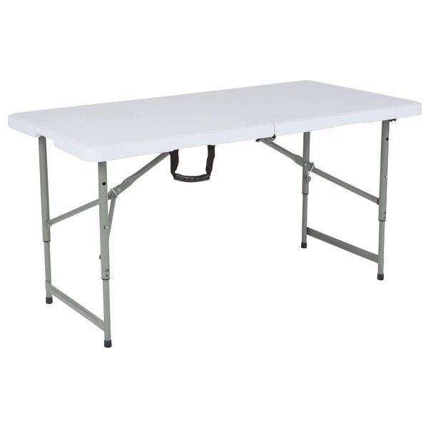 Adjustable 48 Rectangular Folding Table by Flash Furniture