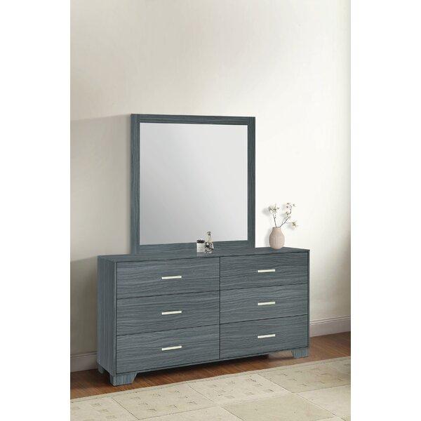 Sanket 6 Drawer Double Dresser with Mirror by Orren Ellis