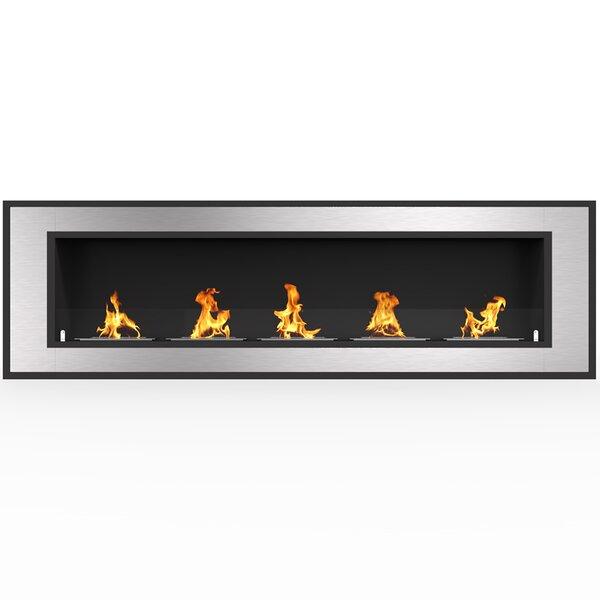 Maybelle Wall Mounted Bio-Ethanol Fireplace by Orren Ellis