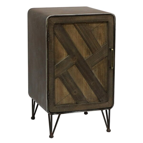 Delicia Wood and Metal 1 Door Accent Cabinet by Union Rustic