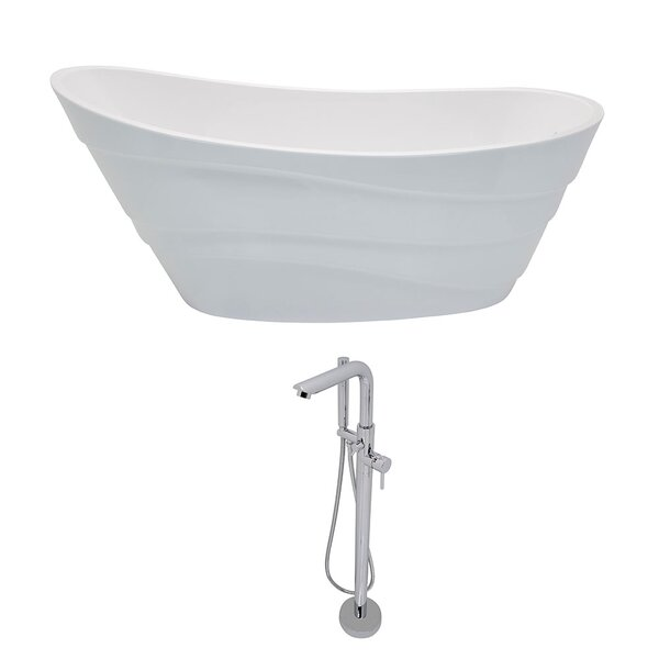 Stratus 67 x 29.5 Freestanding Soaking Bathtub by ANZZI
