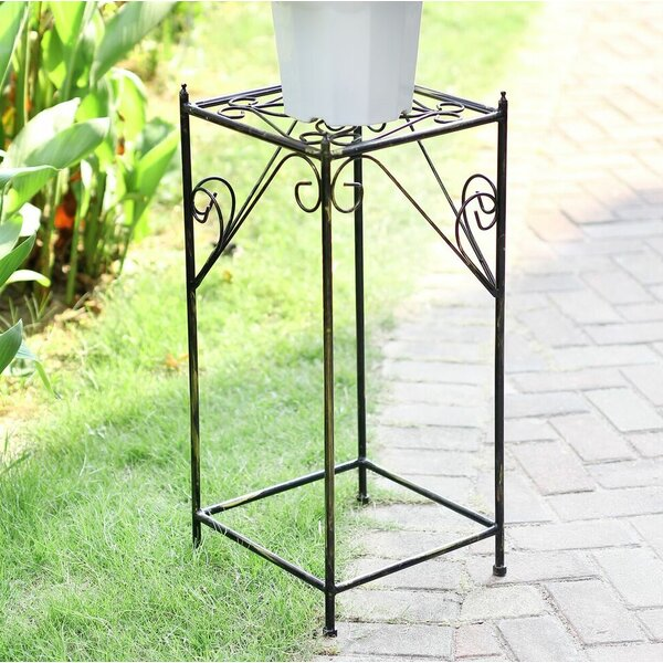 Lattice Square Large Cast-Iron Plant Stand by ORE Furniture