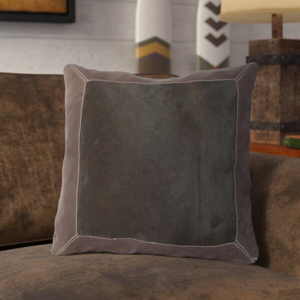 Calgary Bold Hide Throw Pillow by Loon Peak