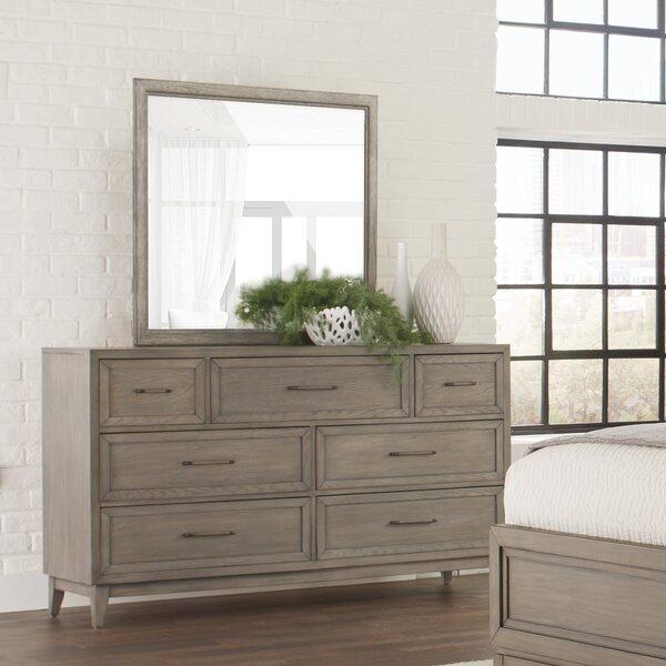 Bangor Alvarez 7 Drawer Double Dresser with Mirror by Three Posts