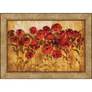 'Sunshine Florals' Framed Painting Print by Darby Home Co