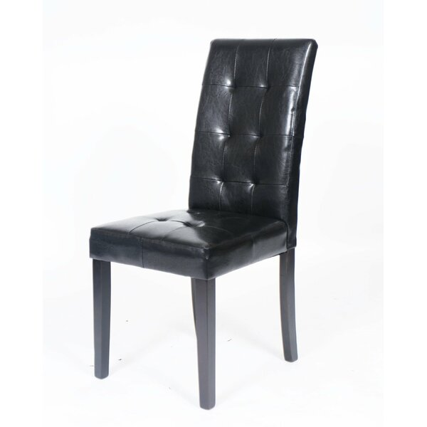 Hinton Charterhouse Leather Upholstered Dining Chair (Set of 2) by Latitude Run