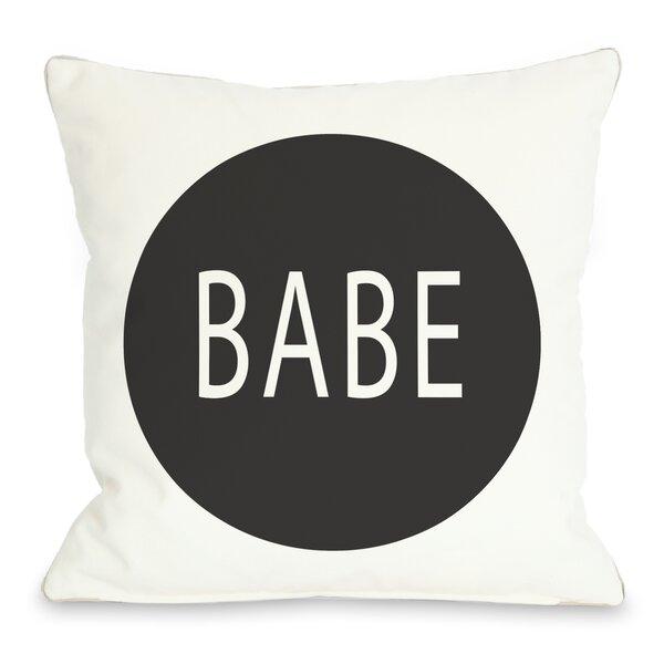 Babe Circle Throw Pillow by One Bella Casa