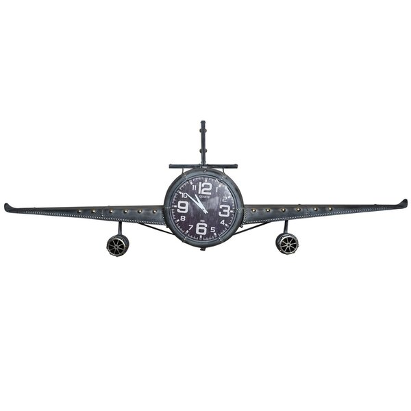 Heinrich Airplane Wall Clock by Williston Forge