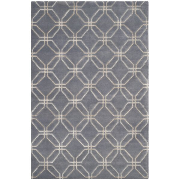 Slate Geometric Rug by dCOR design