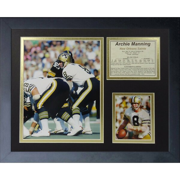 Archie Manning Framed Memorabilia by Legends Never Die