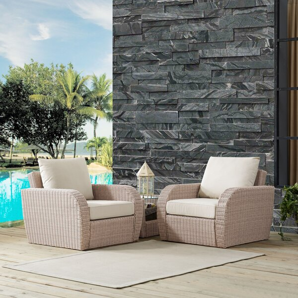 Basaldua 3 Piece Conversation Set with Cushions by Ivy Bronx